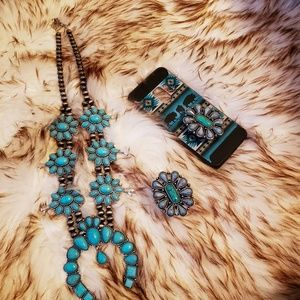 Accessories - Western Faux Turquoise Phone Grip Pop Socket Charm